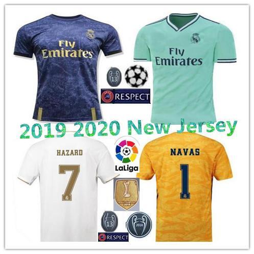 2019 Real Madrid PELIGRO inicio camisetas de fútbol 19 20 Camiseta de fútbol de portero de Madrid MODRIC ASENSIO VINICIUS JR ISCO KROOS Tercer uniforme de fútbol