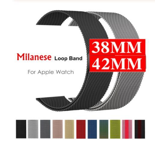 Milanese loop Strap for apple watch band apple watch 4 44 mm correa iwatch Band 42mm 38mm 40 stainless steel Bracelet watchband
