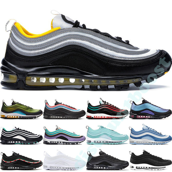 2019 Nike Air Max 97 Throwback Future Game Royal Neon Seoul Sneakers Designer Scarpe da corsa sportive Triple Black White Have a Day Uomo Donna Sneakers 36-45
