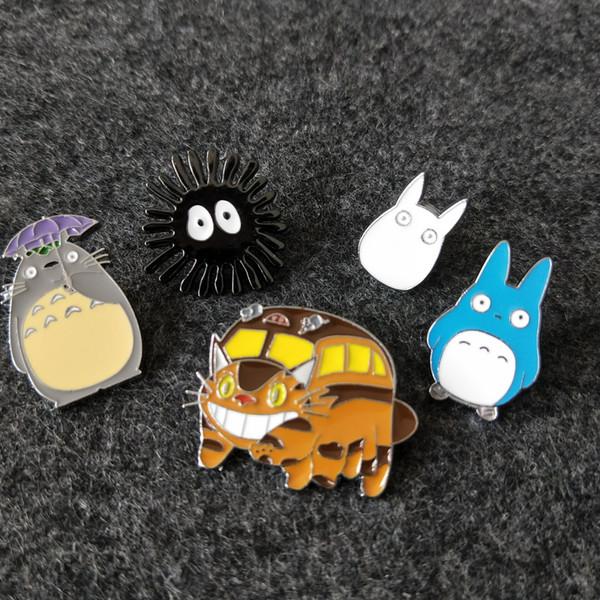 Çocukluk Karikatür Broş Komşum Güzel Çocuklar Totoro Broşlar Düğme Iğneler Denim Ceket Pin Rozeti Çocuk Hayvan Aksesuarları C4261