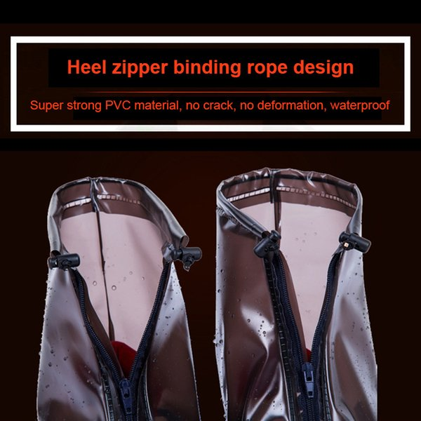 Hot 1 Pair Unisex Waterproof Shoes Cover Lightweight Anti-slip Resuable Wear-resistance Overshoes BVN66