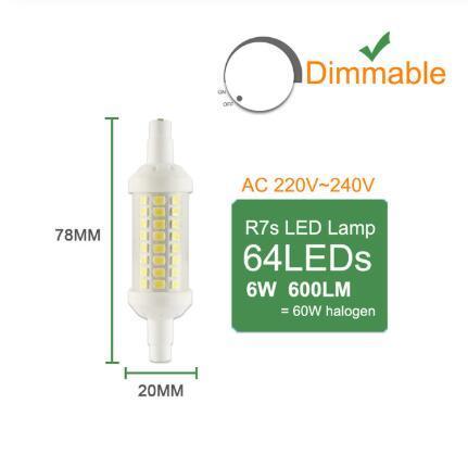 78mm dimmerabile 6w
