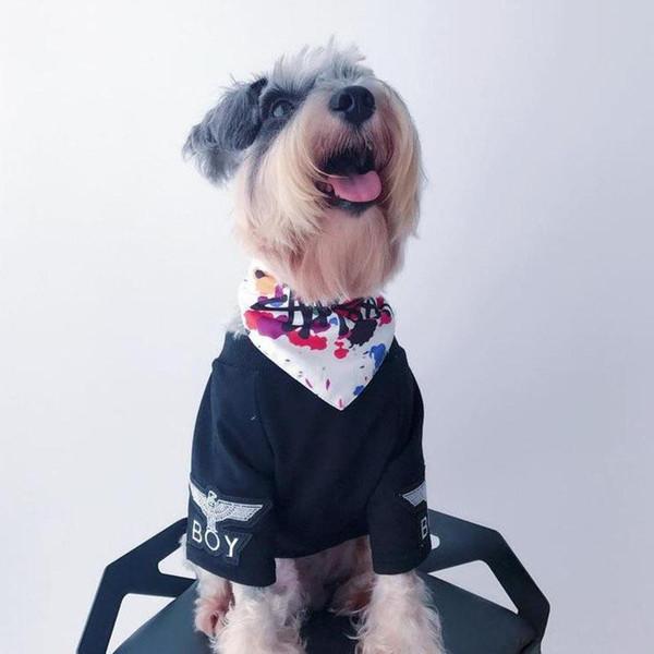 Новая собака \ «S банданы моды Марка Triangle шарфов Тедди Щенок \», S Принадлежности для собак Pet Cat Воротник 4 Стили НОВЫЙ стиль