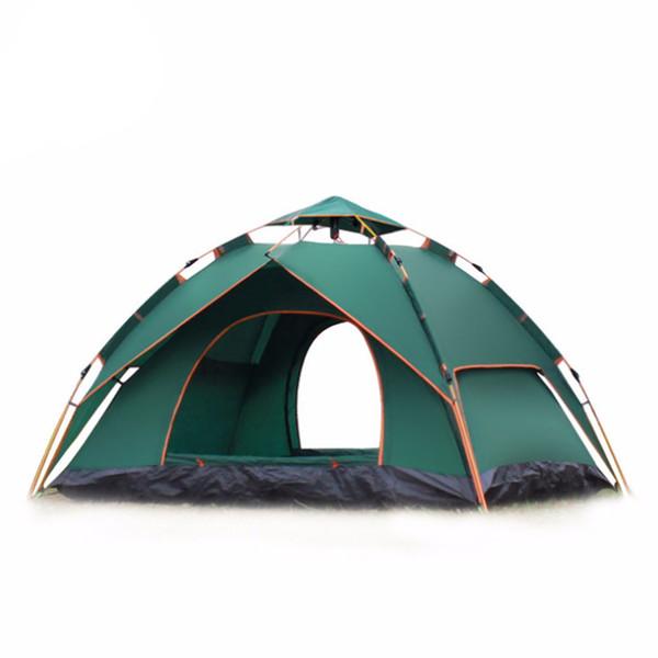 Acampamento duplo ao ar livre completo automático duplo primavera 3-4 pessoa barraca de acampamento de praia tendas essenciais para caminhadas, escalada e para fora