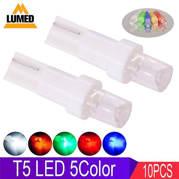 10x T5 LED Auto LED Innenbeleuchtung Armaturenbrett Anzeige Instrument Auto Side Wedge Glühbirne 12V