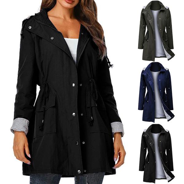 CHANWELL Women Simple Fashion Jackets Female Plus Size Waterproof Slim Hoodies Long Jacket Coat 2019 Winter jaqueta feminina
