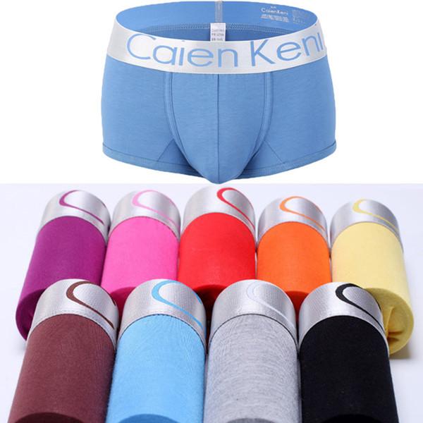 10Pcs/lot Hot Sale Male Panties Sexy Underwear Men's Boxers Comfortable Panties Men Male Underwear Men's Boxer Underwear Cotton Y19042302