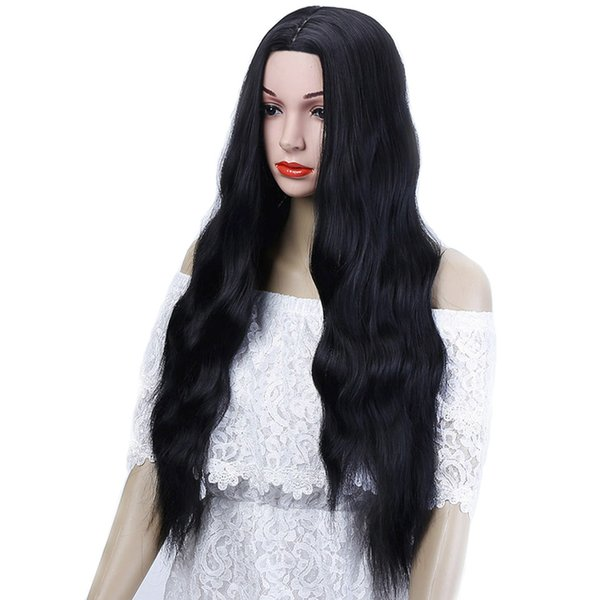 26'' Long Kinky Curly Hair For African Americans Heat Long Curly Women's Hairpiece Synthetic Yellow Gray Cosplay hair