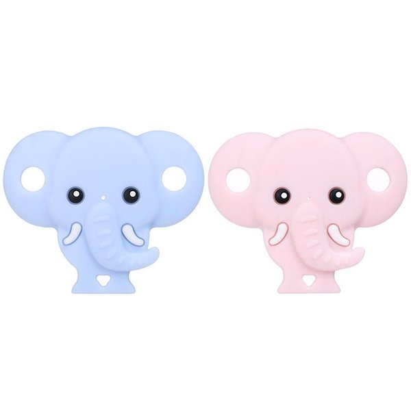 5PCS Silicone Baby Boy Girl Pacifier Nipple Clip Cute Mini Wide Caliber Round Head Super Soft Cartoon Cute Elephant Pacifier