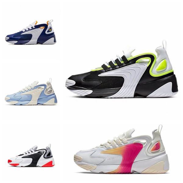 2019 yeni Yakınlaştırma 2K M2K Tekno erkek çalışan spor ayakkabı ayakkabı spor ayakkabıları için 2000 Yelken Beyaz-Siyah Koyu Gri baba