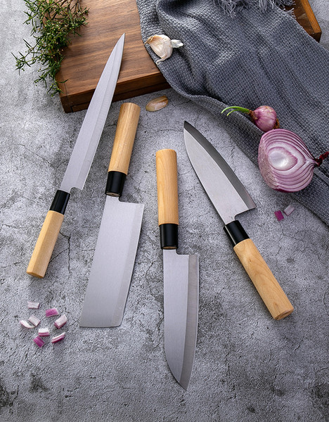 Роскошный Дамаск японская кухня суши кухонные ножи нож наборы мясорубка острый овощной нож 8 дюймов деревянная ручка нож шеф-повара