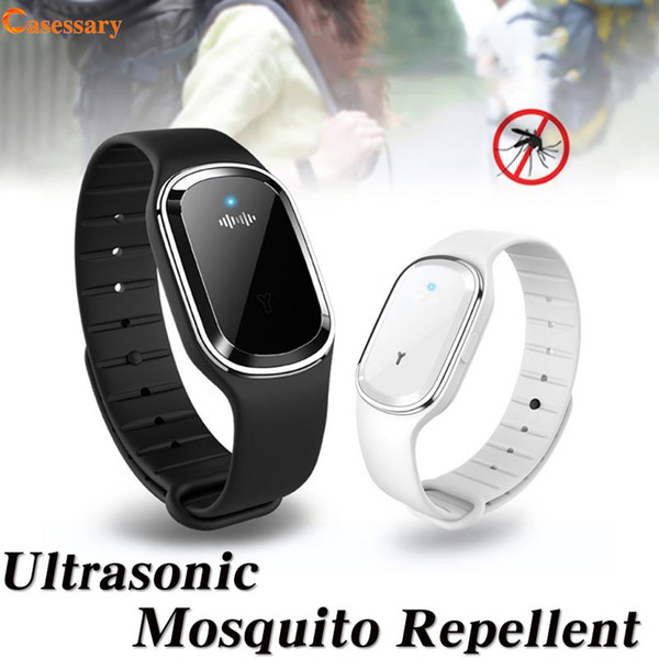 Ultra onic mo quito repellent bracelet wri tband full acou tic wave anti mo quito chemical odorle rechargeable for outdoor port