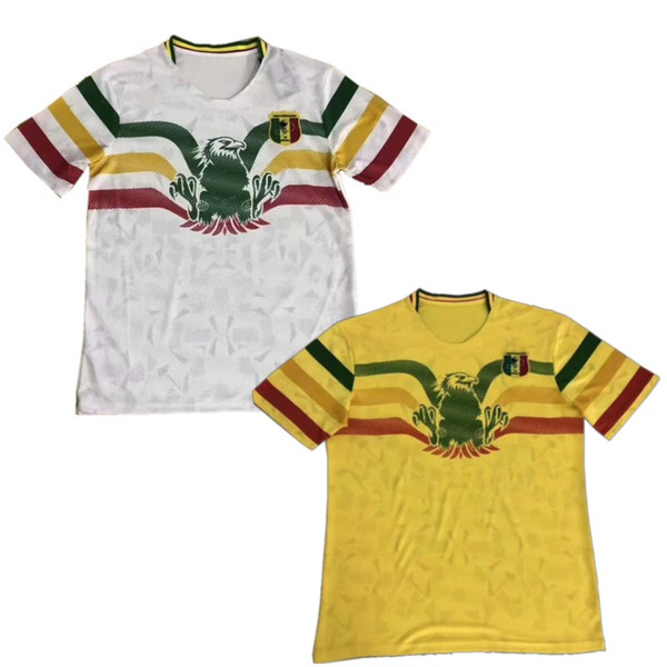 2019 Mali Soccer Jersey 19 Mali Home Away Soccer Uniform Adult KEITA White Yellow Football Shirts