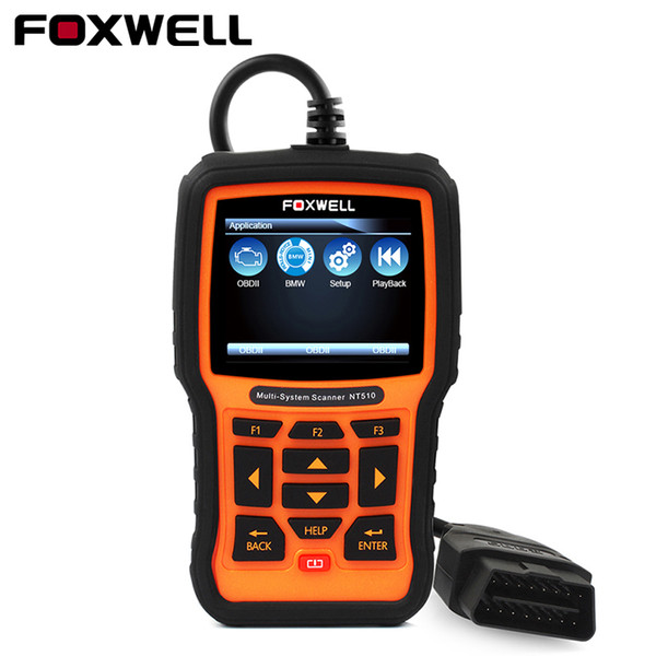 FOXWELL Full System OBD2 Diagnostic Tool NT510 Free Update OBD2 Scanner EPB SRS ABS Oil Service Reset ODB2 Automotive Scanner
