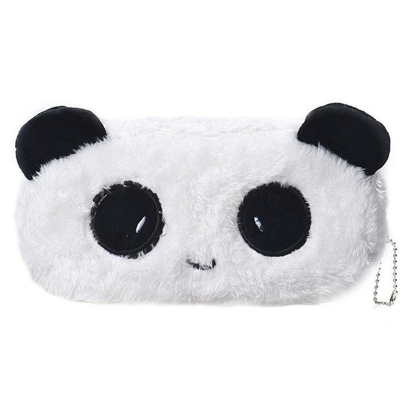 Wholesale- Kids Cartoon Pencil Case Plush Large Pen Bag Cosmetic Makeup Cartoon Storage Bag panda