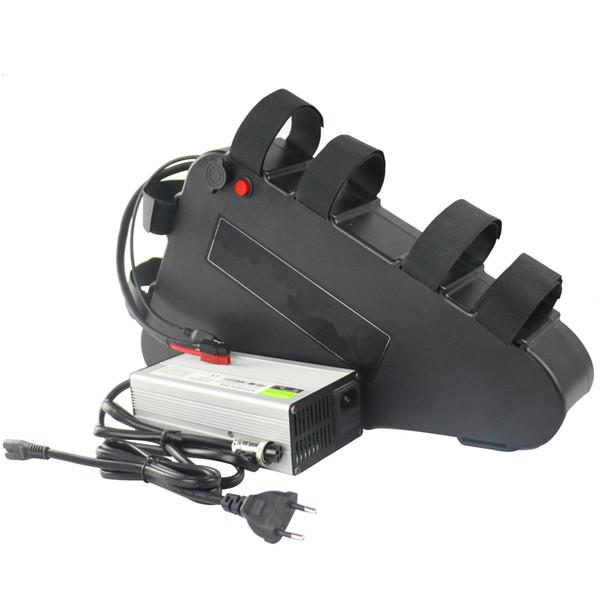 Nenhum imposto para EUA UE 52v 17.5AH Triângulo De Plástico bateria de lítio Ebike bateria de bicicleta elétrica à prova d 'água Pacote ISO9001 / CE / ROHS / UN38.3 ceritified