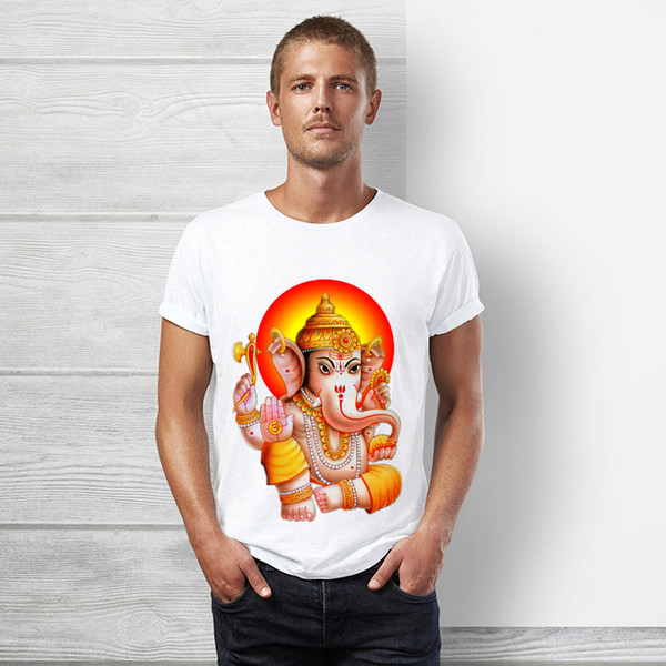 Ganesha t shirt uomo manica corta religione tops tee ganesha statua god tshirt happy diwali moda uomo camicia designer tee abbigliamento di lusso