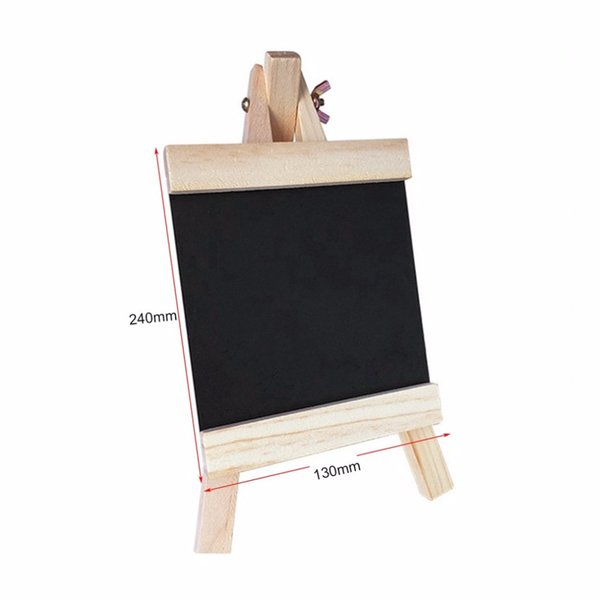 blackboard 24*13cm deskrecords board with adjustable wooden stand durable chalk board black products for schools home