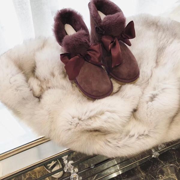 Botas de goma para las mujeres Medio calzado Boinas de verano Entrega gratuita en 2019, las últimas botas de cuero europeas, piel de oveja real