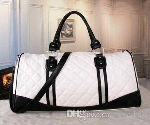women duffle bag women travel bags hand luggage luxury brand designer travel bag men pu leather handbags large cross body bag totes 55cm