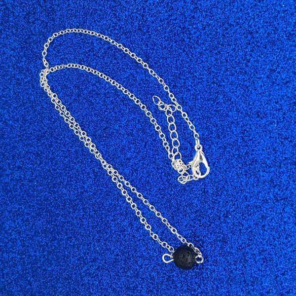 Lava Rock Designer Halskette Naturstein Perlen ätherisches Öl Diffusor Halskette Anhänger Halsreifen Hip Hop Schmuck
