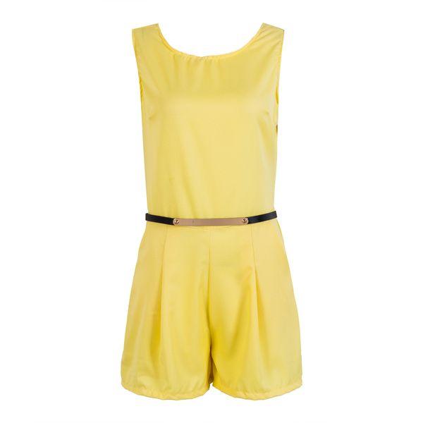 US Women Summer Casual Sleeveless Playsuit Ladies Short Jumpsuit Backless Romper
