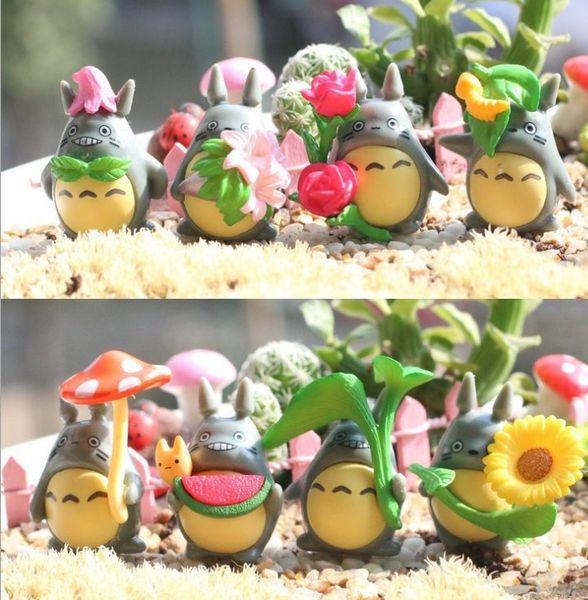 Christmas Totoro Figure Toys Mini Totoro Anime Action Figures Display Doll DIY Christmas Party Decoration