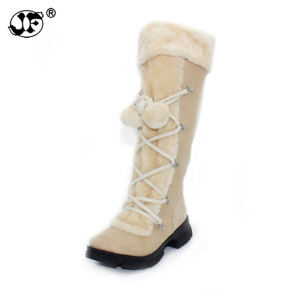 Wholesale 2018 New Hot Fashion sexy ladies' Platform Boots Women Knee High boots winter women shoes fur warm snow boots yjk90