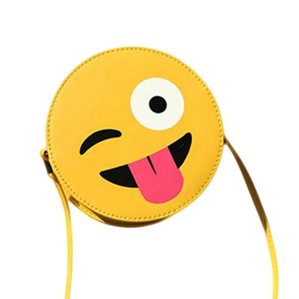 Mensajero Bolsas Hombro Sonrisa Redondas Amarillas Dibujos Animados Crossbody Divertido De Mini Compre Pequeñas Lindo Personalizada Emoticon Bolsa xoedBC