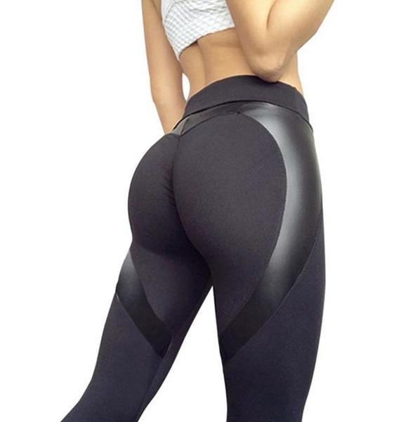 Pantalons de yoga pour femmes, taille haute, pantalons capris, pantalons en similicuir sexy à séchage rapide, jambières pour femmes