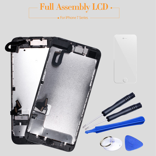100% Tested Complete Full Set ecran For iPhone 7 LCD Display Touch Screen Digitizer Assembly Replacement For iPhone 7 plus LCD