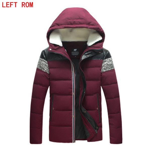 2017 yeni Marka kış sıcak kapüşonlu palto casual erkek için kalın ceket erkek ince pamuk giyim Kapüşonlu ceket erkek aşağı ceket