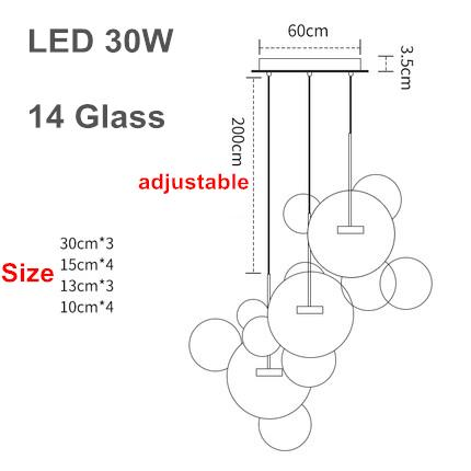 3 lampade 30cm A