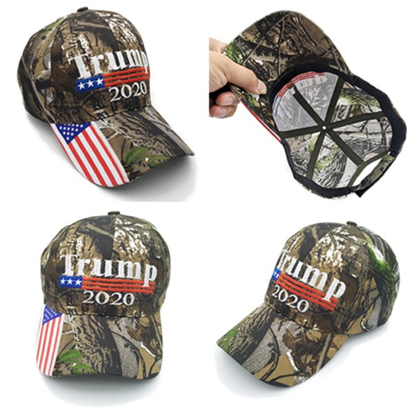Trump Camouflage hat President Donald Trump 2020 caps American Hats USA Camo napback Sports Beach Golf Cap