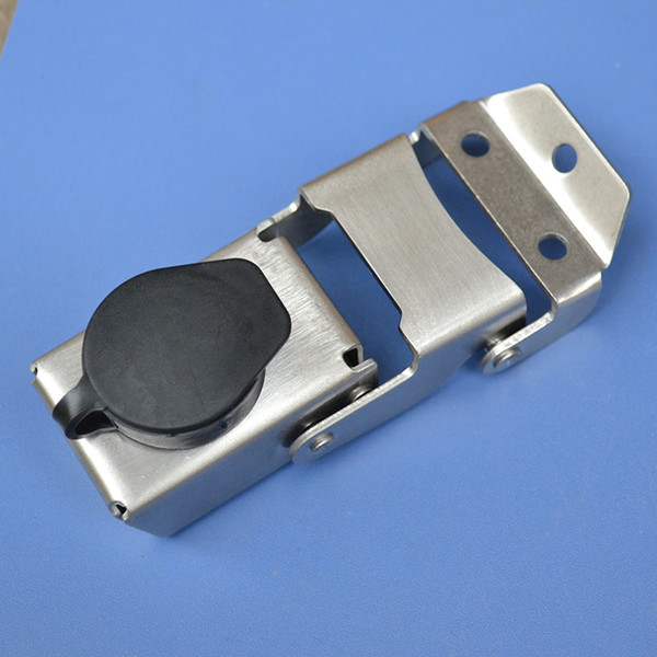 coperchio impermeabile serratura in acciaio inox cassa laterale cassetta degli attrezzi serratura borsa hardware parte in lega di alluminio del motociclo fibbia fissa fai da te fatti a mano