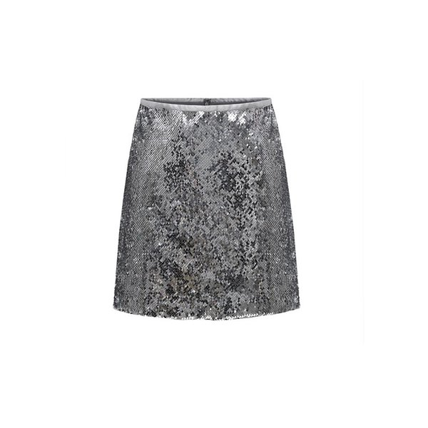 women party skirts package hip skirts fashion sequin splice skirts spring summer female above knee dresses, Black