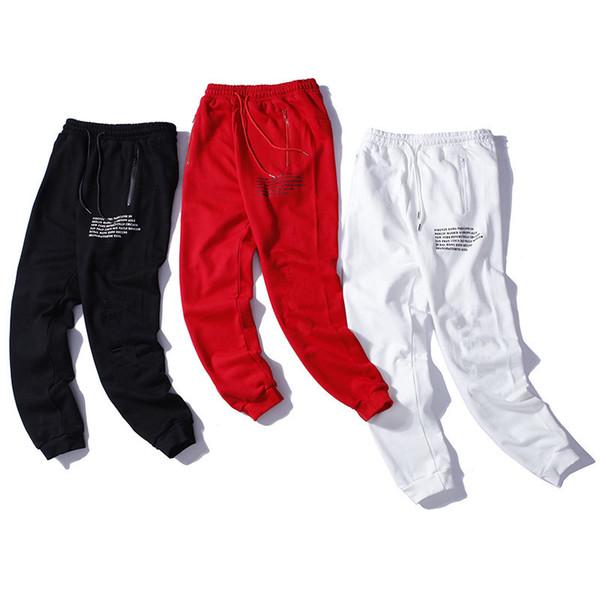 Satın Al Ilkbahar Ve Sonbahar Streetwear Mektup Boyama Ipli Pantolon