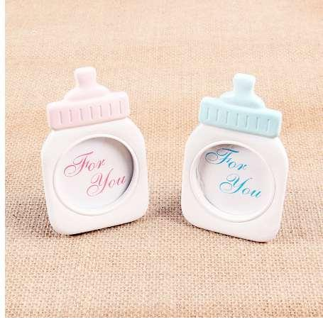 Baby Bottle Shape Plastic Photo Frame Home Decor Baby Shower Gift Photo Collection Sweet Kids Birthday Supplies Room Decorations