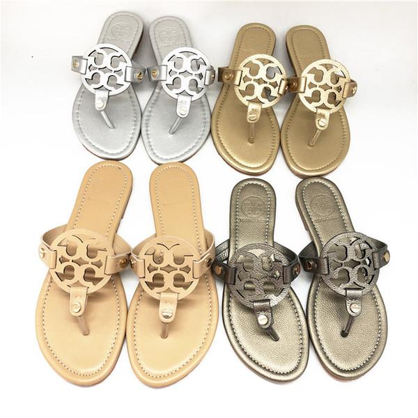 Diapositivas de moda Sandalias de diseñador de cuero genuino para jóvenes Zapatos de alta calidad para los zapatos que combinan con la familia Sandalias de tiras de diseñador para adolescentes