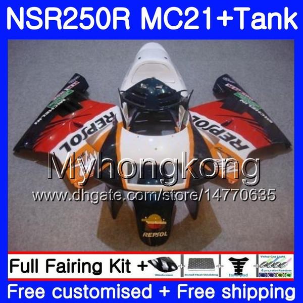 Iniezione per HONDA NSR 250R 250 R NSR250R Repsol verde caldo 1990 1991 1992 1993 264HM.29 NSR250 R RR MC21 PGM3 NSR250R 90 91 92 93 Carene