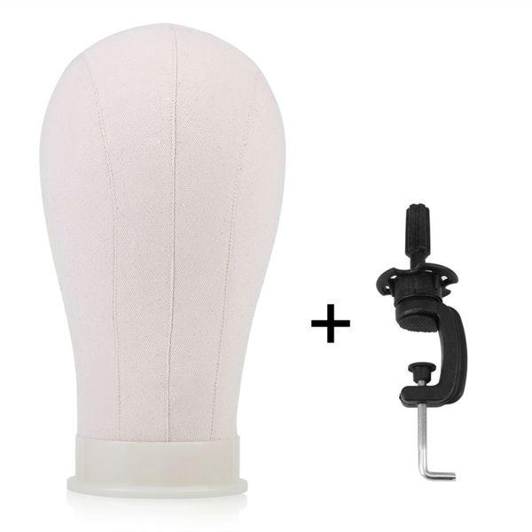 nuevo 3 tamaños lienzo pantalla peluca cabeza y mesa abrazadera soporte peluca modelo haciendo maniquí cabeza de entrenamiento muestra maniquí modelos