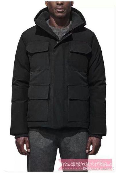 Los hombres de diseñador de lujo canadienses visten al aire libre el abrigo del sombrero del fumador, el abrigo del fumador masculino M-4xl E8001