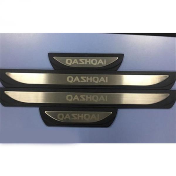 Aksesuarlar Kapı Eşiği Itişme Plaka Guard Paslanmaz Kapı Eşikleri Koruyucu Sticker Nissan Qashqai J11 2017 2018 Için Krom Styling