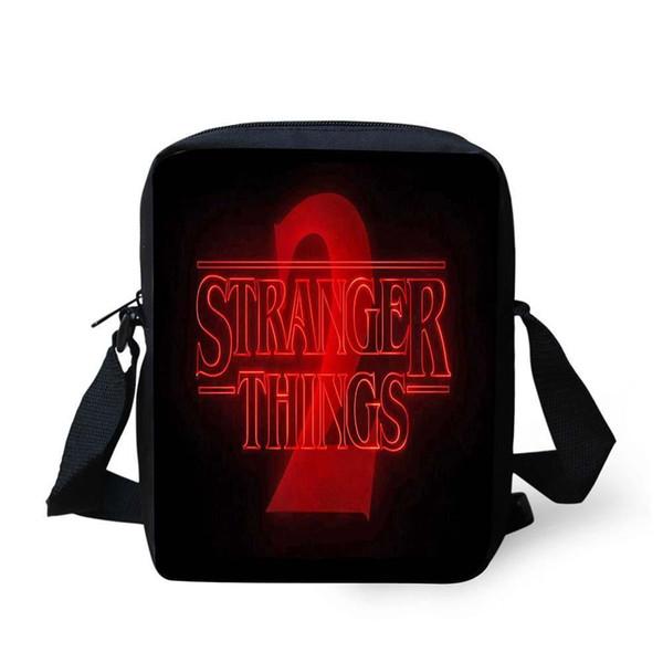 NOISYDESIGNS Kindergarten Stranger Things Characters Printing Cross Body Shoulder Bag For Kids School Children Messager Bags