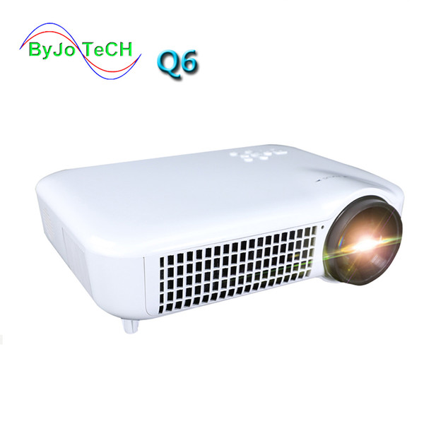 best selling 2019 ByJoTeCH Q6 NEW Full 1080P 4K 2K Projector Android 7.0 WIFI Bluetooth 5000 lumens Beamer 3D Home Theater Proyector HDMI USB