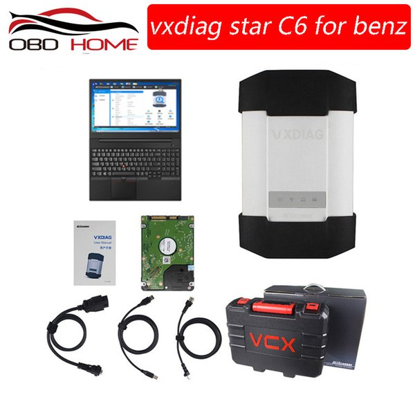 VXDIAG C6 Professional OBD2 Diagnostic Tool With Wireless For Mercedes Benz STAR C4 C5 Scanners Truck VXC PLUS DOIP Audio