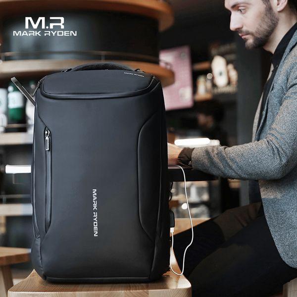 2019 New Anti-thief Fashion Men Backpack Multifunctional Waterproof 17.3 Inch Laptop Bag Man Usb Charging Travel Bag