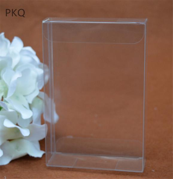 1.5x8x10cm Small Packaging Souvenir Box Transparent Gift Box for Chocolate Wedding Party Supplies clear plastic pvc 50pcs