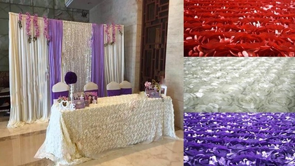 Wedding Decoration-Multicolor stereo rose fabric, 3D wedding carpet For Wedding background 10 Meters/lot, 13 colors