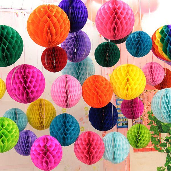 8 inch (20cm) Black White Tiffany Blue Tissue Paper Honeycomb Balls Birthday Baby Shower Wedding Holiday Party Decorations